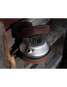 Kaffepanna och läderfodral från Lemmelkaffe