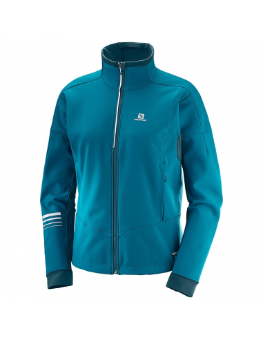 Salomon LIGHTNING WARM SSHELL JKT W Deep Lagoon